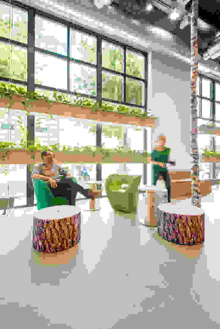 werken, overleggen, lunchen in 't Park Moderne kantoorgebouwen van CUBE architecten Modern