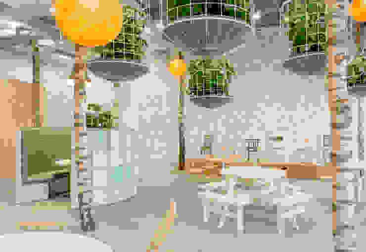 tussen het groen Moderne kantoorgebouwen van CUBE architecten Modern