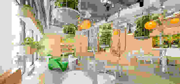 de plantenkooien Moderne kantoorgebouwen van CUBE architecten Modern