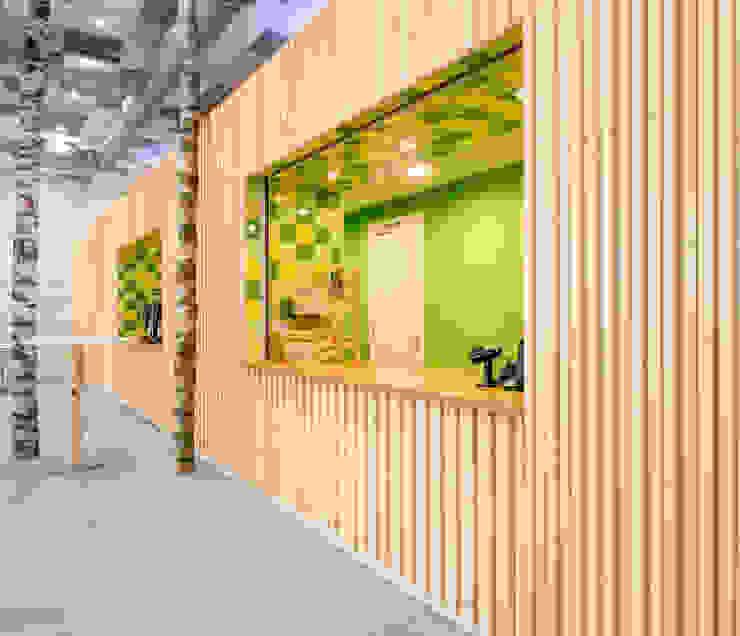 Biologiosche broodjes, sappen en goede koffie Moderne kantoorgebouwen van CUBE architecten Modern