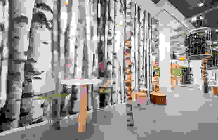 De bomenwand Moderne kantoorgebouwen van CUBE architecten Modern