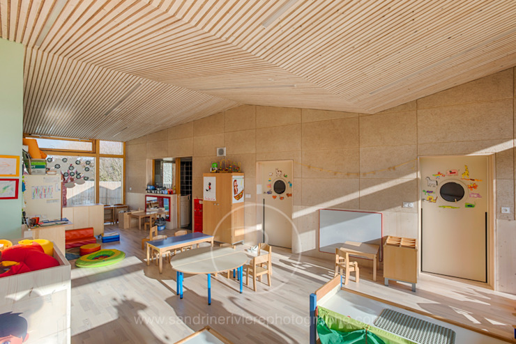Crèche Bernin – Agence RK2 Architectes Ecoles scandinaves par Sandrine RIVIERE Photographie Scandinave
