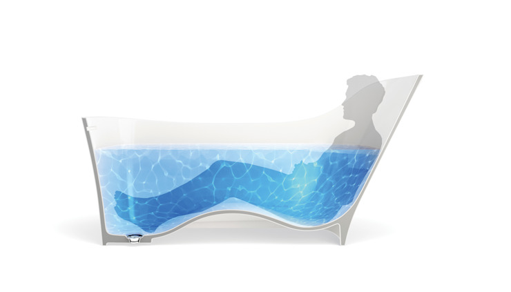Natural Stone Bath—Nebbia Designed For Human Form: modern  by Clearwater Baths, Modern