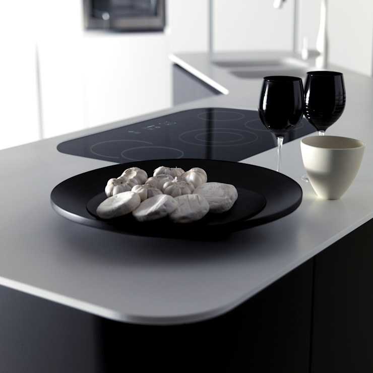 Sinuosa per Effeti Cucina minimalista di Vegni Design Minimalista