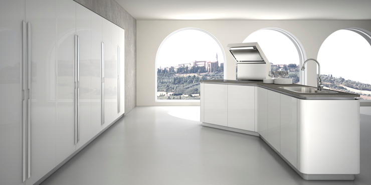 Sinuosa per Effeti Cucina moderna di Vegni Design Moderno