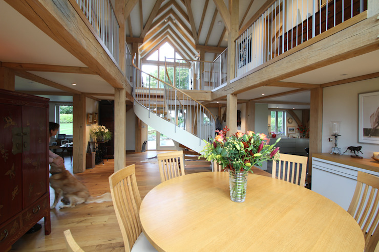 The Breakfast Room Country style living room by Hale Brown Architects Ltd Country