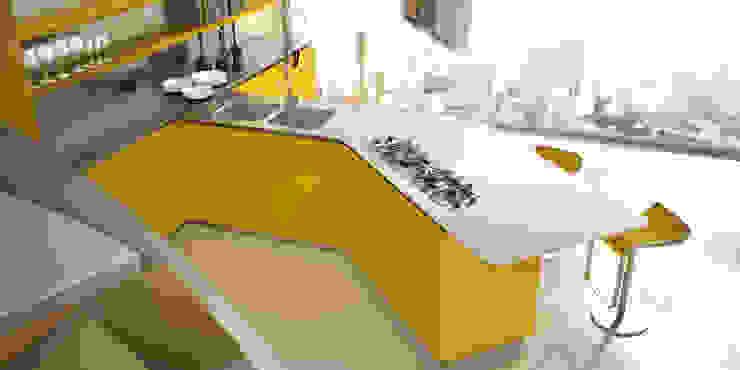 Sinuosa per Effeti Cucina eclettica di Vegni Design Eclettico