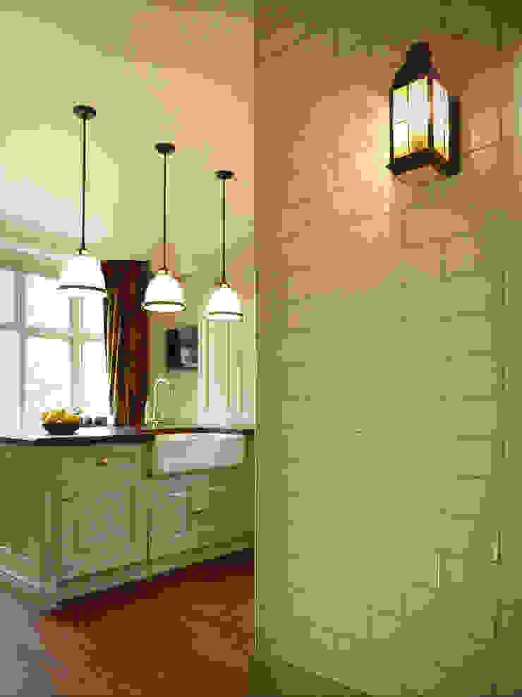 Cream brick tiles with Bingham light: classic  by The Victorian Emporium, Classic