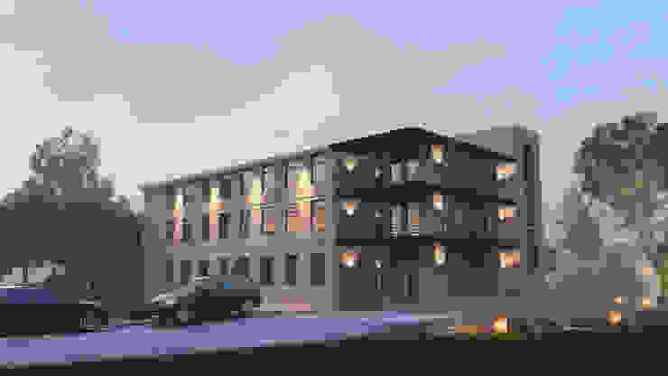 Edificios de oficinas de estilo industrial de ARCHIplus Industrial