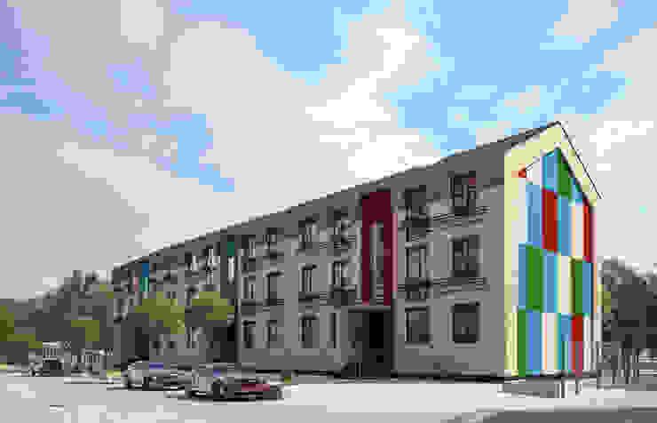 Многоквартирный жилой дом Дома в стиле минимализм от ARCHIplus Минимализм
