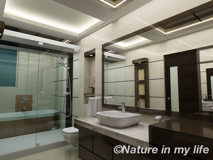 Bathroom Interior design​ de Nature in My Life Moderno