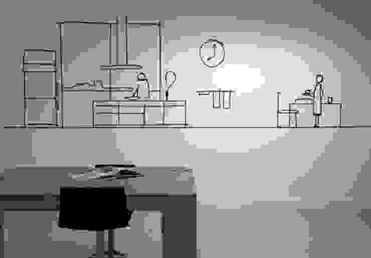NewLook Brasschaat Keukens Ruang Studi/Kantor Modern