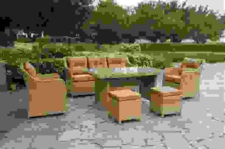 Mix Masalı Oturma Takımı Cream Color Kumbahçe Bahçe Mobilyaları Akdeniz