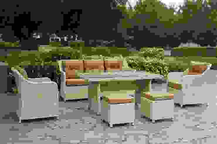 Mix Masalı Oturma Takımı Ivory Color Kumbahçe Bahçe Mobilyaları Tropikal