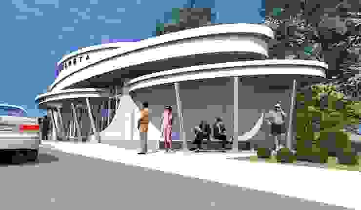 Торгово-остановочный павильон от Проектная группа «Портал»