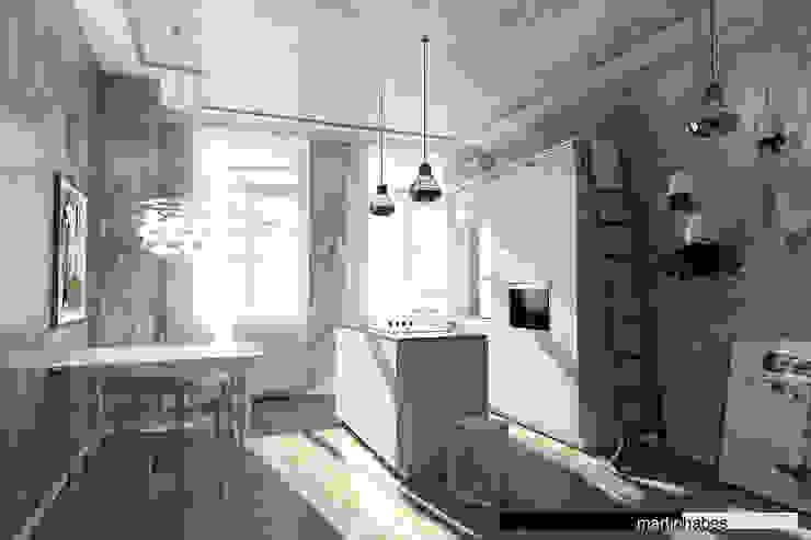 Salon de style  par habes-architektur, Minimaliste