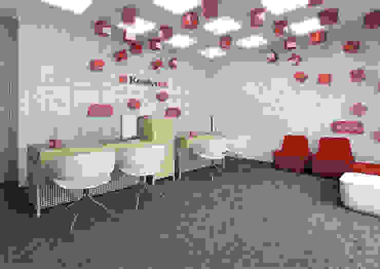Projekt biur - lifting placówek bankowych od Za murami za dachami Nowoczesny