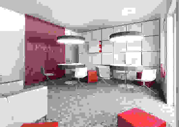 Projekt biur – lifting placówek bankowych od Za murami za dachami Nowoczesny