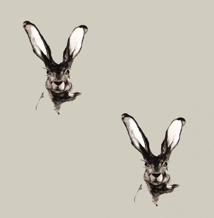 Jackrabbit Wallpaper - Dusted Stone: country  by Dwelling Bird, Country