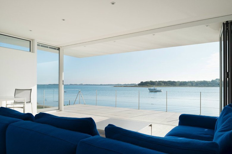 View from the lounge Modern living room by Heat Mat Limited Modern