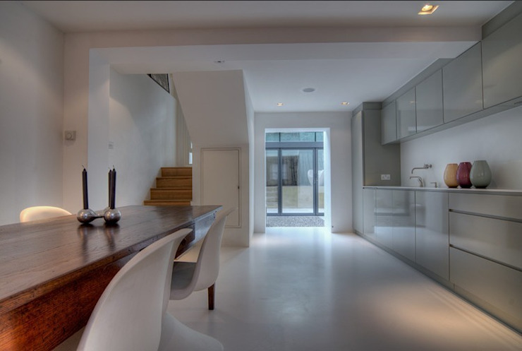 Marylebone Family House Minimalist kitchen by Peter Bell Architects Minimalist
