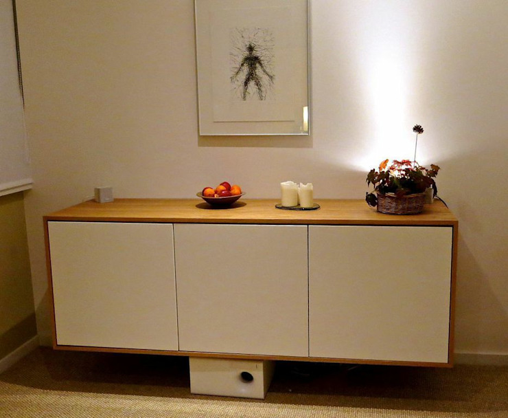 floating entertainment unit woodstylelondon Living roomCupboards & sideboards