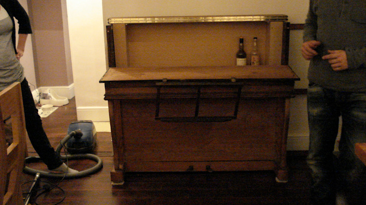 Upright pianino converted to a minibar by woodstylelondon