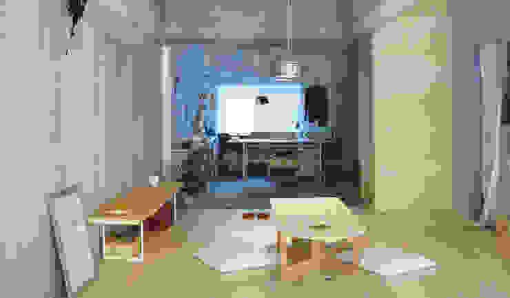 Eklektyczny pokój multimedialny od HANKURA Design Eklektyczny
