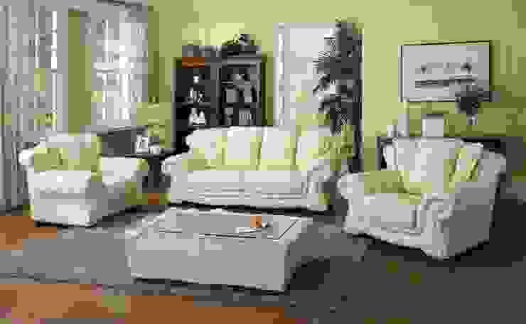 White Sofa Set: modern  by Locus Habitat,Modern
