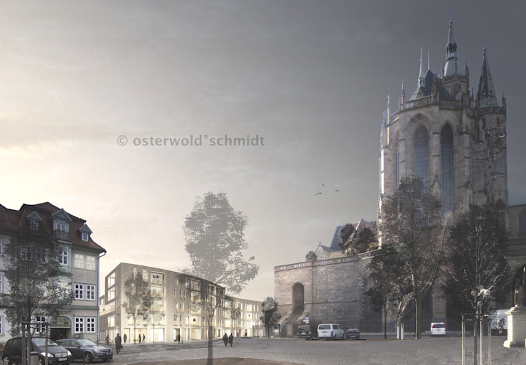Domquartier Erfurt Moderne Häuser von Osterwold°Schmidt EXP!ANDER Architekten Modern