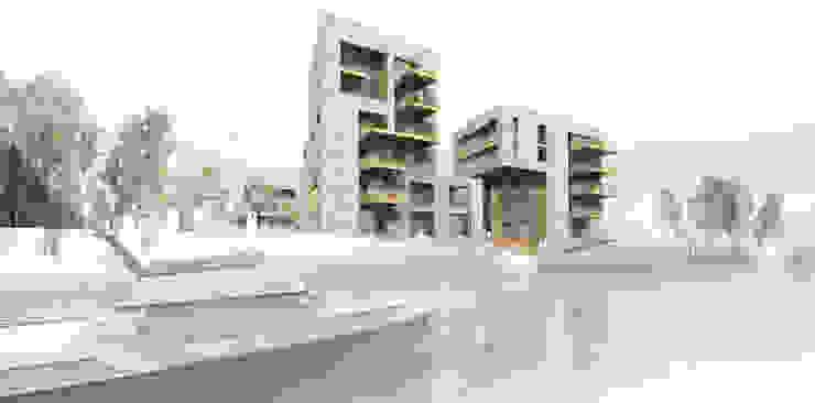 Neue Leipziger Terrassen Moderne Häuser von Osterwold°Schmidt EXP!ANDER Architekten Modern