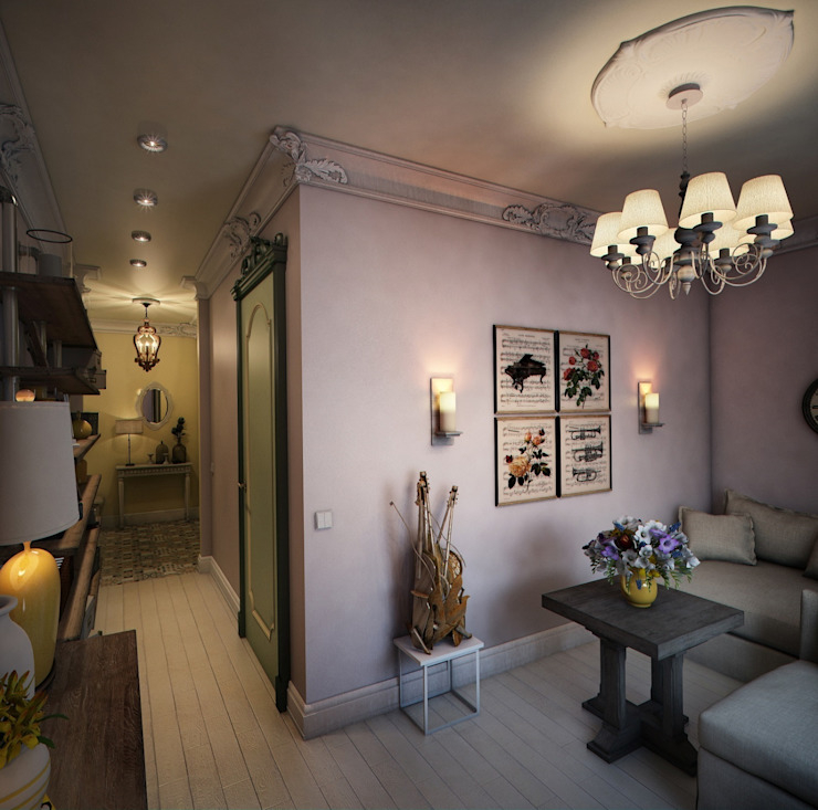 Eclectic style living room by Marina Sarkisyan Eclectic
