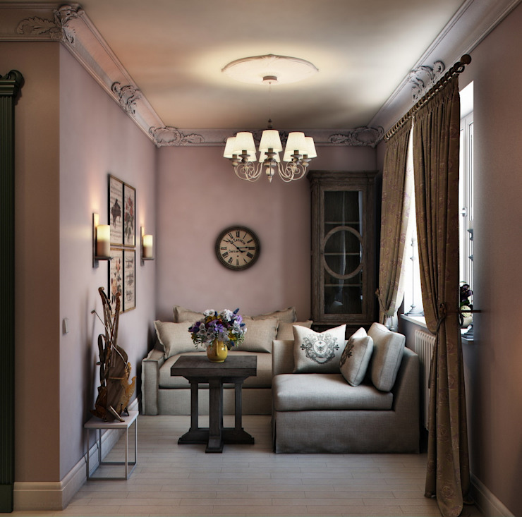 Ruang Keluarga Gaya Eklektik Oleh Marina Sarkisyan Eklektik