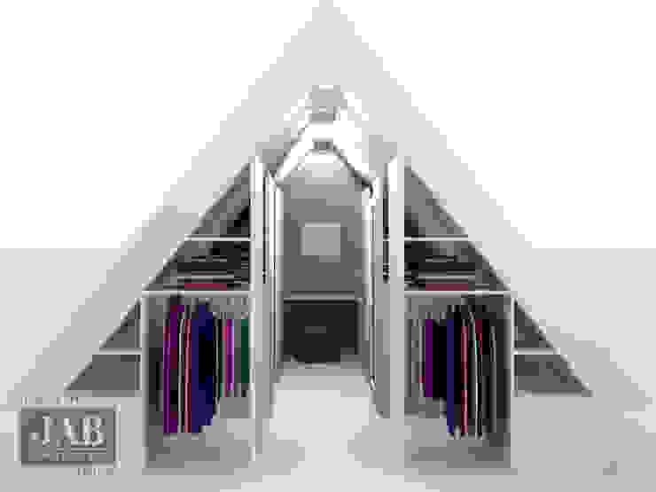 3D visualisatie inloopkast doorsnede van House of JAB by Verstappen Interiors