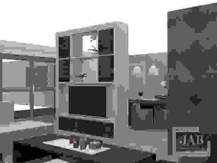 Maatwerk tv meubel 3D visualisatie van House of JAB by Verstappen Interiors