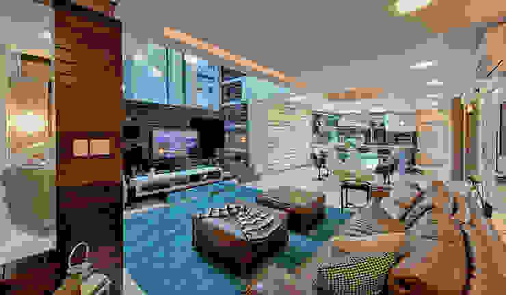 Ruang Keluarga Modern Oleh Espaço do Traço arquitetura Modern