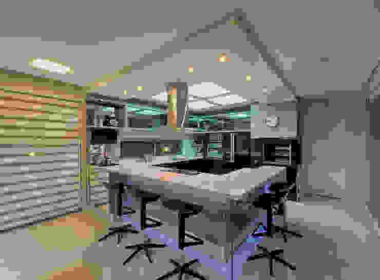 Espaço do Traço arquitetura Dapur Modern