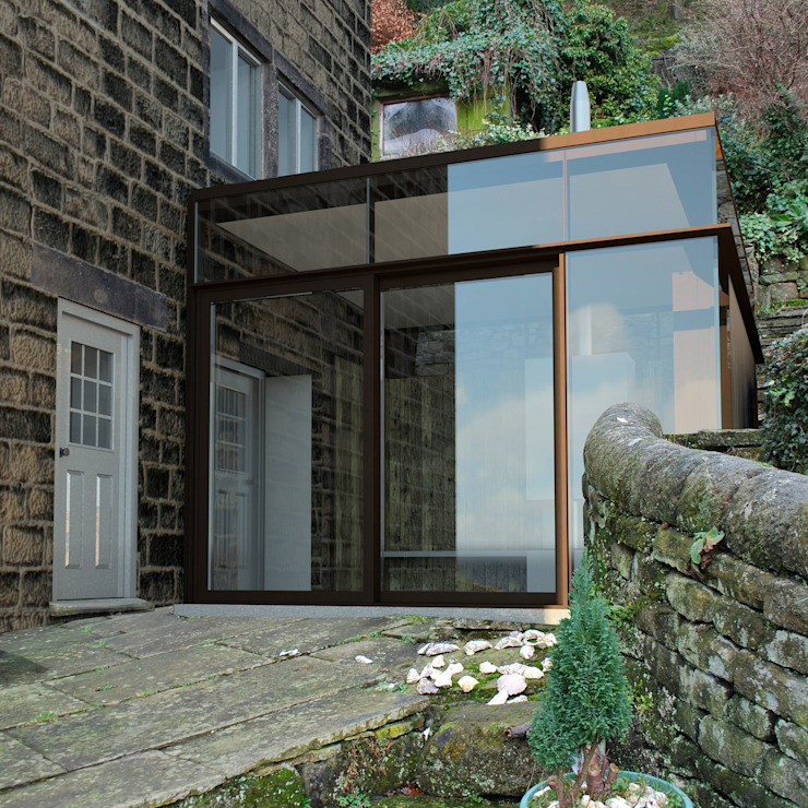 Front View Extension by daniels thiede architects limited