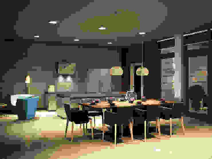 Roof apartment Кухня в стиле лофт от Виталий Юров Лофт
