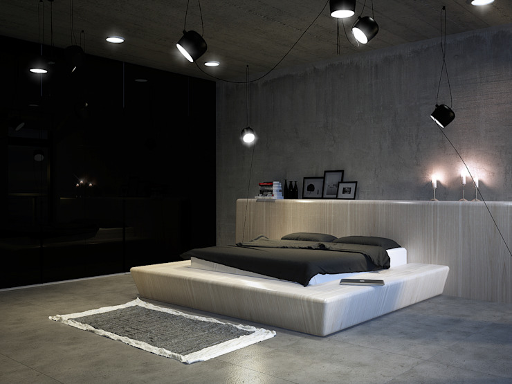 Виталий Юров Industrial style bedroom