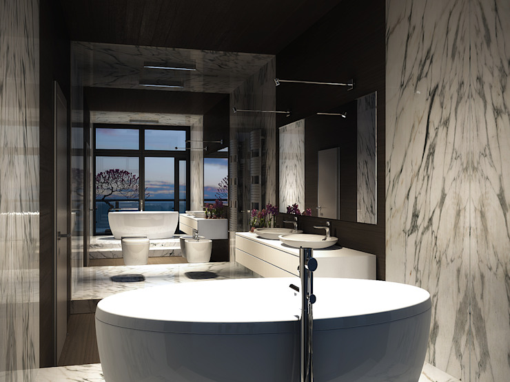 Roof apartment Ванная в стиле лофт от Виталий Юров Лофт