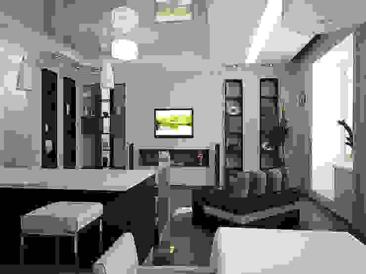 Квартира в цвете бирюзы Гостиная в стиле минимализм от Арте Минимализм