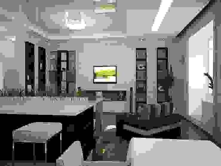 Гостиная Гостиная в стиле минимализм от Арте Минимализм