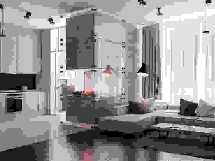Salas de estilo  por Виталий Юров, Minimalista