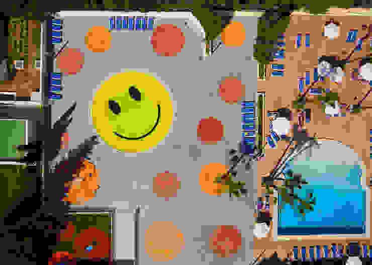 Smile Pool and Playground A2arquitectos Kolam Renang Modern