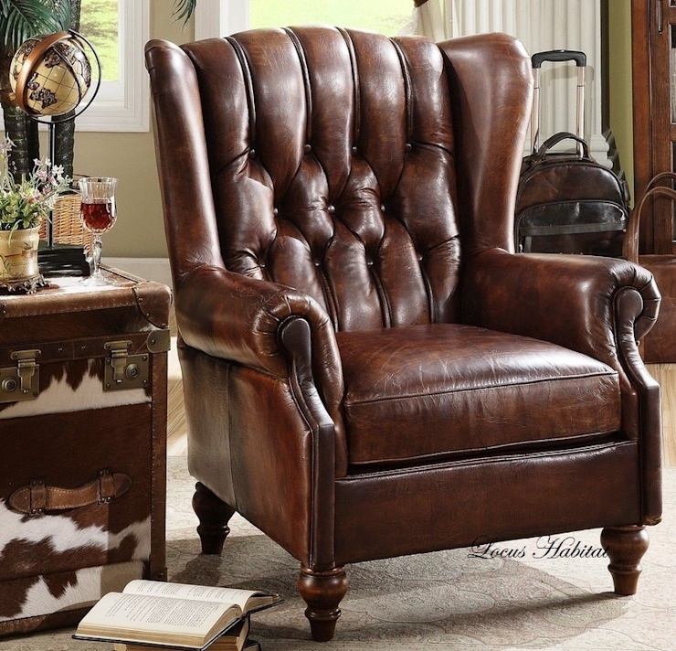 Classic Leather Armchair Locus Habitat Living roomSofas & armchairs
