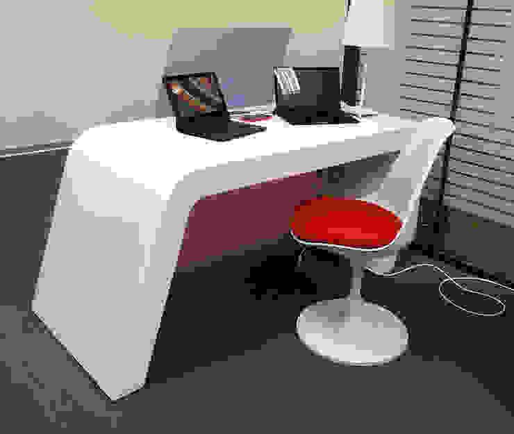 стенд для Microsoft Рабочий кабинет в стиле минимализм от Fineobjects Минимализм
