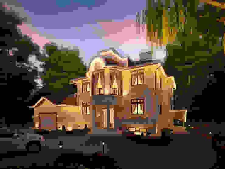 Фасад главного дома, главный вход Дома в классическом стиле от Y&S ARCHITECTURE – INTERIOR DESIGN Классический