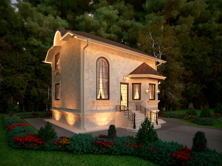 Фасад гостевого дома, главный вход Дома в классическом стиле от Y&S ARCHITECTURE – INTERIOR DESIGN Классический