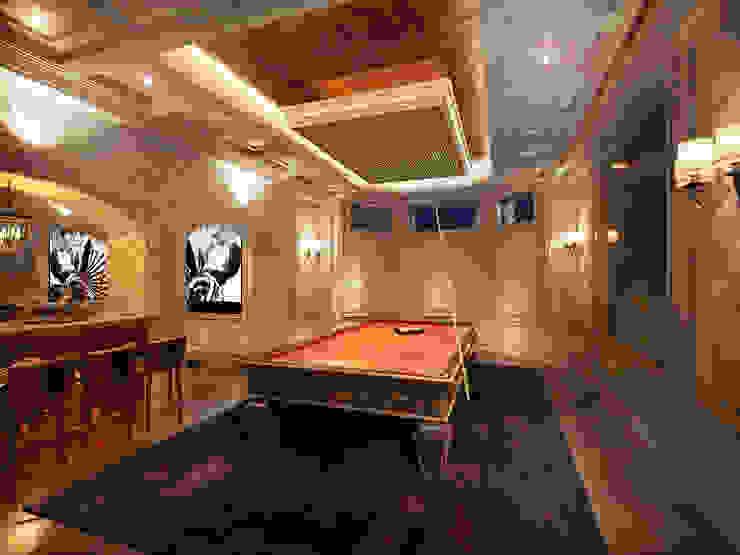 Бильярдная комната: Медиа комнаты в . Автор – Y&S ARCHITECTURE – INTERIOR DESIGN,